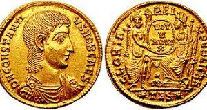 Una moneta prodotta in oro