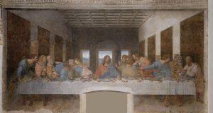 Ultima cena di Leonardo da Vinci, visibile a Milano, nella chiesa di Santa Maria delle Grazie