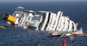 Costa Concordia dopo l'incidente